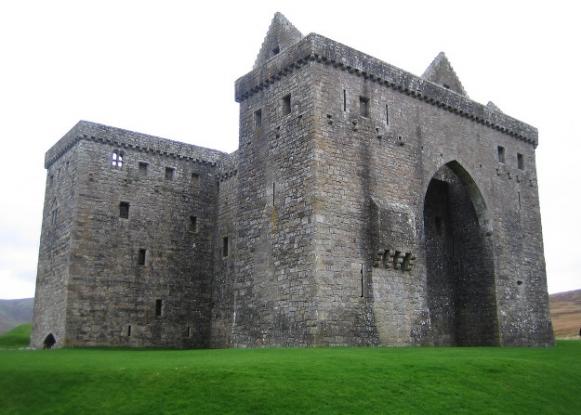 Hermitage Castle in Roxburghshire