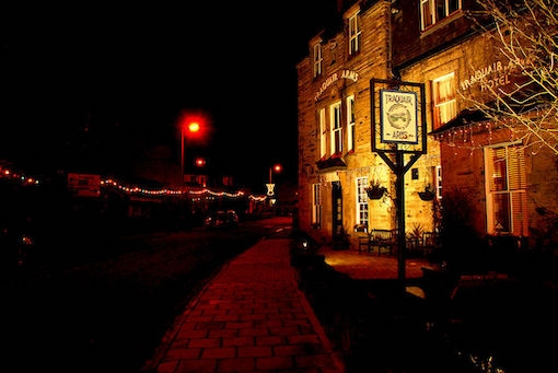 You'll find a warm fire at the Traquair Arms