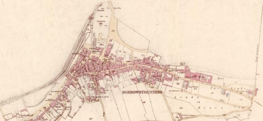 1856 Map of Bo'ness
