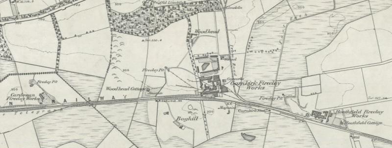Cardowan, Garnkirk and Heathfield Fireclay Works c.1858 built on the Caledonian Railway line.