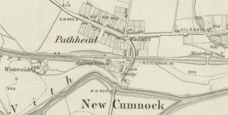 1857 Map showing the village of Pathhead