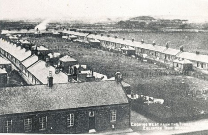 Workers' Houses at Eglinton Iron Works (looking west)