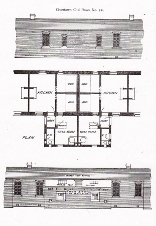 Plan and Elevations of Wemyss Row Housing