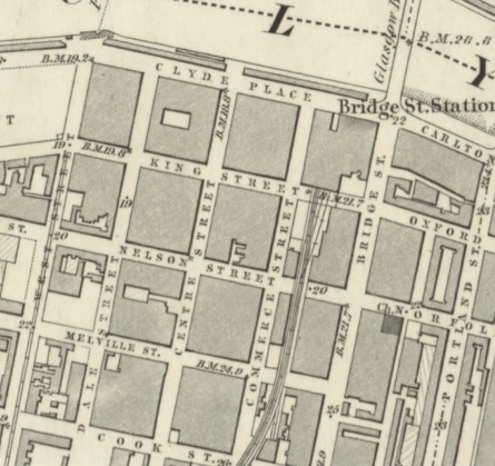 1858 Map showing Centre Street