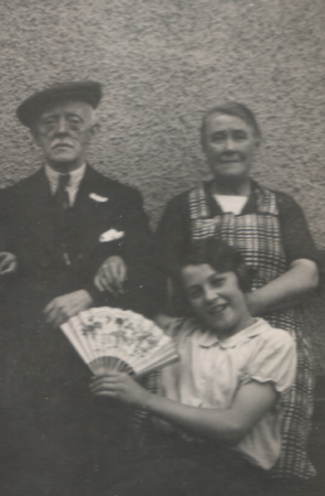 William H. and Jeanie McKay with granddaughter Jean McKay at 343 Main Street, Rutherglen c.1940
