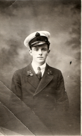 David McKay in RNVR uniform c.1918