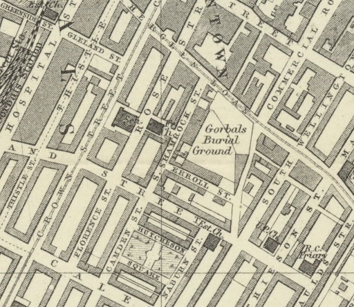 1888 Map showing Location of South Shamrock Street.