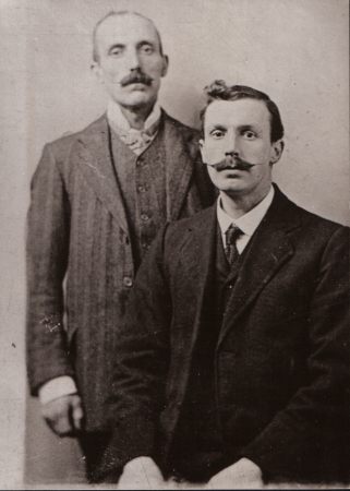 Frederick Macartney and his father James c.1905