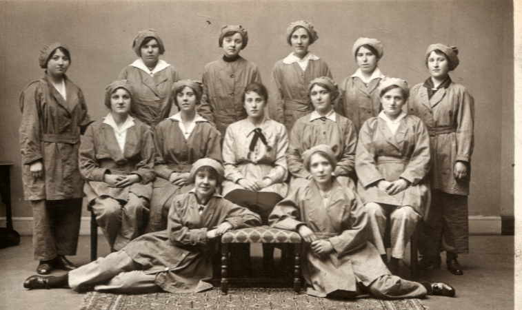 Isabella Macartney (seated at right) with work colleagues.
