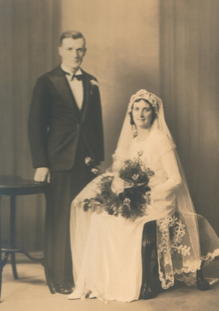 James Macartney and Essie Simpson on their wedding day.