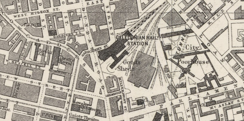 1882 Map showing location of Garscadden Street.