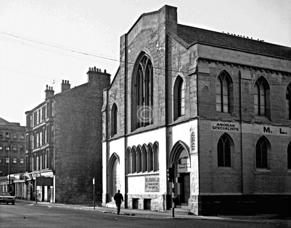 The former Free Church building at 26 King Street, Tradeston (1973)