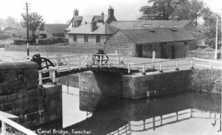 The Drawbridge over the Forth and Clyde Canal at Twechar (1965)