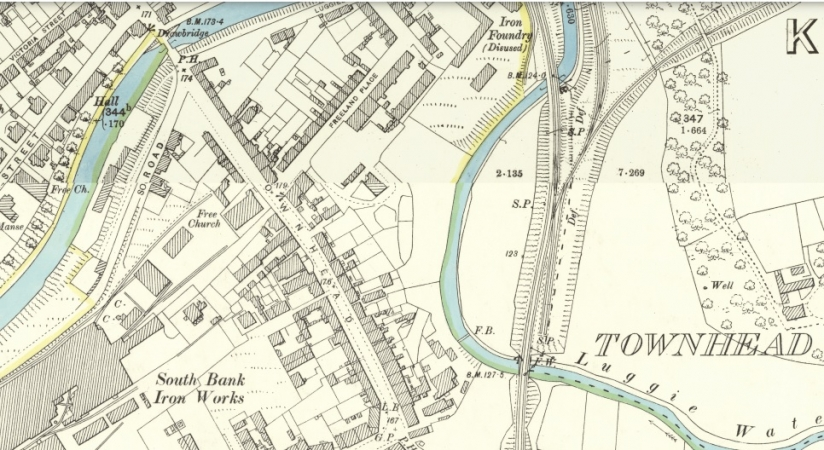 1898 Map of Townhead, Kirkintilloch