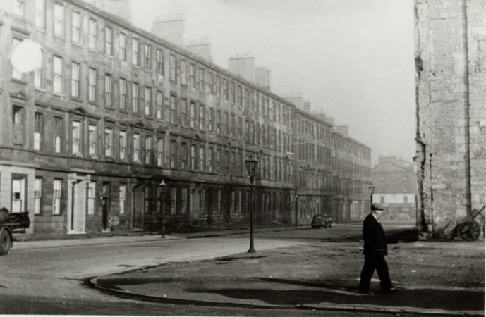 Apsley Place (Nicholson Street) looking north in 1970s just prior to demolition