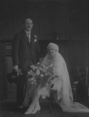 1927 Wedding photo of George Abercrombie and Susan Ann KIng