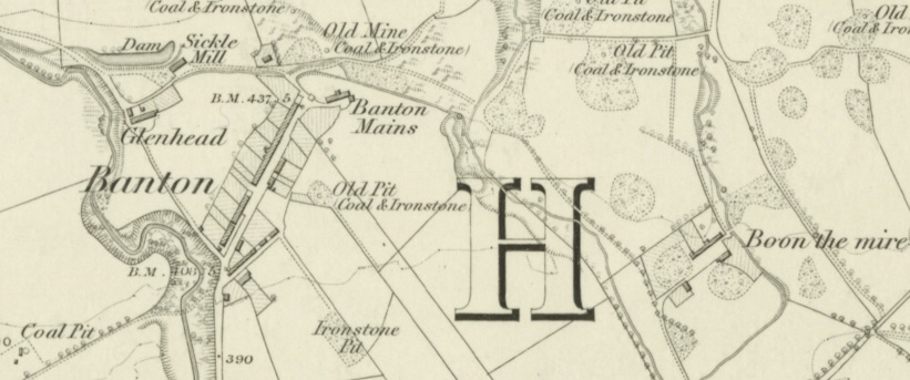 1865 Map of High Banton, Parish of Kilsyth