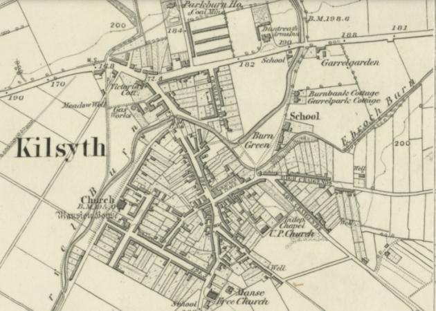 1865 Map of Kilsyth