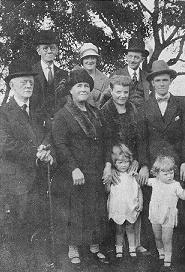Dan Brown (top left) visiting the McKays in Rutherglen