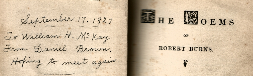 Dan Brown's Inscription