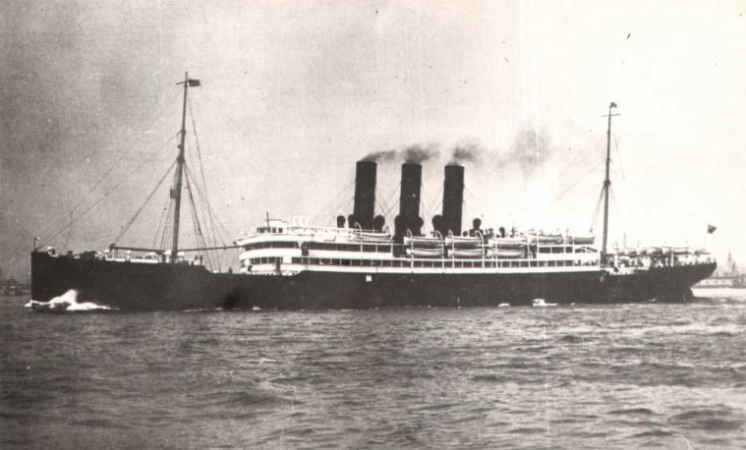 S.S. Columbia which took Maggie Brown to America in 1903