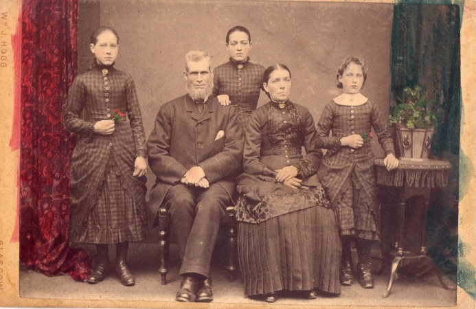 John and Margaret Brown and their three daughters c.1885