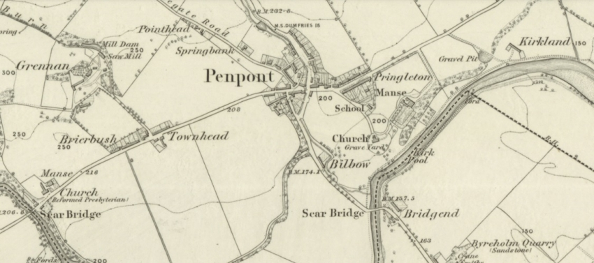 1860s Map of Penpont Village