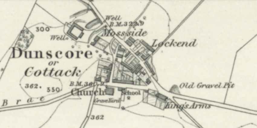 Location of King's Arms in Cottack