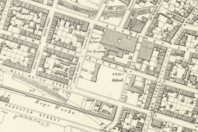 1897 Map showing Holmscroft Street and vicinity