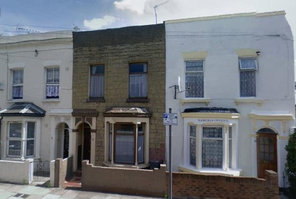 From the right, 4, 6 and 8 Portree Street, Poplar, London