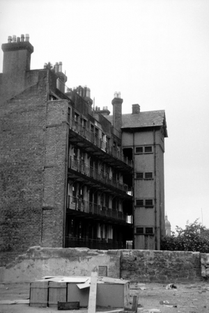Apartments at 25 Rottenrow showing open galleries.