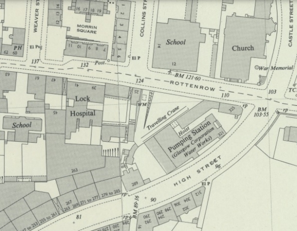 Map showing location of 25 Rottenrow in Glasgow