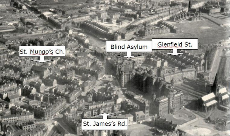 Aerial Photo of Townhead area in Glasgow.