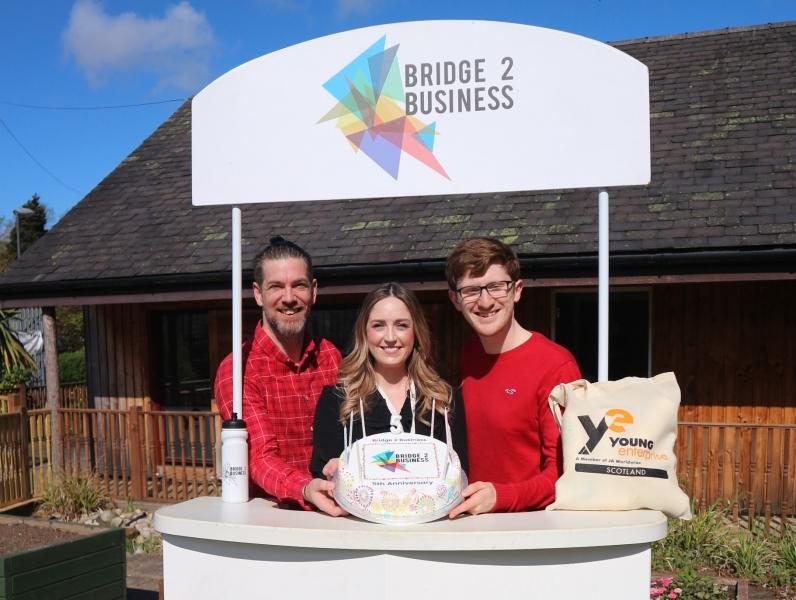 L-R:  Alan Gordon (Programme Executive.), Lisa Wardlaw (Senior Programme Executive - Bridge 2 Business) and Fraser Morrison (Senior Programme Executive - Company Programme).