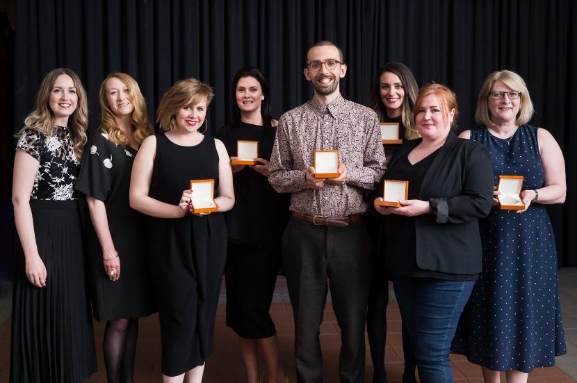 Bridge 2 Business Educator Award winners with Lisa Wardlaw - Senior Programme Executive