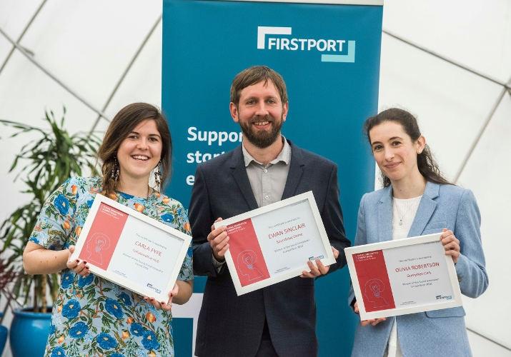 Social Innovation Competition winners (L to R: Carla Fyfe, Ewan Sinclair, Olivia Robertson)