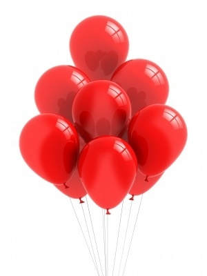 When presented with a bunch of all red balloons...
