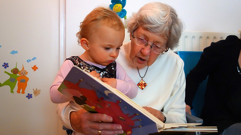 According to Lucy's mum, reading to Lucy can help people who aren't sure what to say to a visually impaired child, connect with her in a meaningful way.  We have heard other accounts of the time and patience a grandparent can have, and reading with their visually impaired grandchild can create a very special and close relationship.