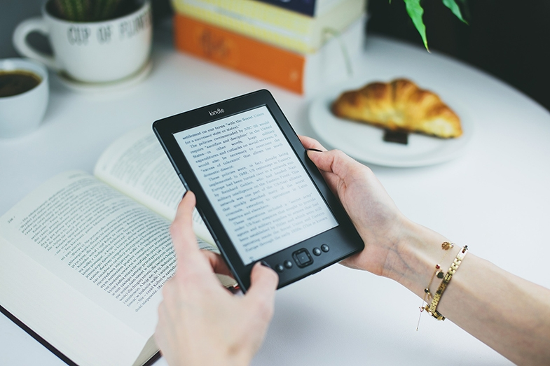 Using a tablet such as a Kindle, set to large print has been very helpful for some children, both with CVI, and without CVI but where the books they want to read are printed in a font size that that is too small.
