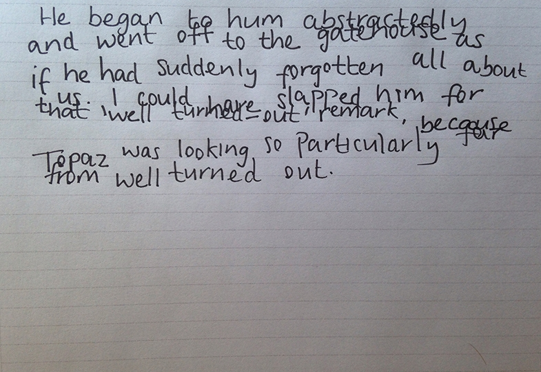 Explanation of how very mild inaccurate guidance of reach can affect handwriting.