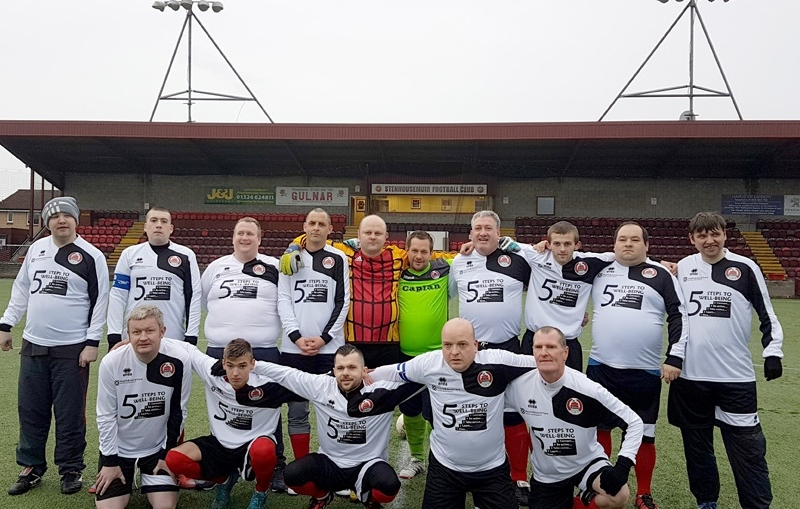 Clyde United play their first ever game away to Warriors in the Community (Stenhousemuir)