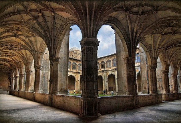 The Cloister of the Monastery of Irache