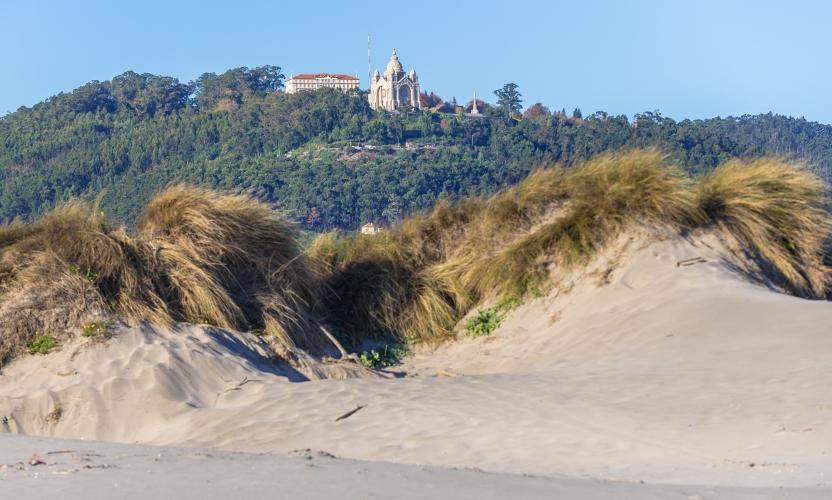 Santa Luzia Basilica as seen from Cabedelo Beach, Viana do Castelo