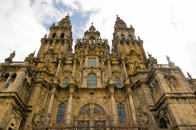 Facade of the Cathedral Santiago de Compostela