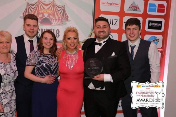 Our Weston Family Collecting Best Independent Bar trophy