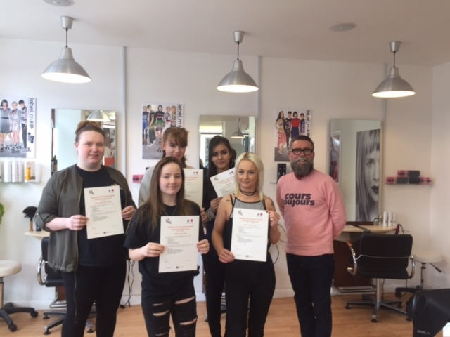 Our Pathways into Hair and Beauty Participants with Kenny McFarlane