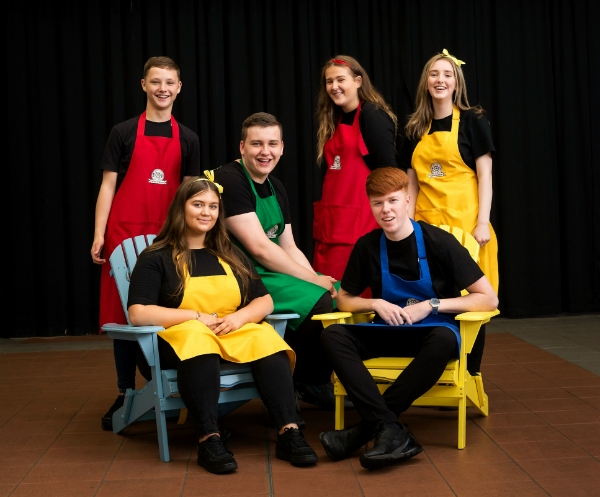 Photograph Caption: Whisk and Spoon from Lochend Community High School  Names of Pupils from the Back Row:  (Left to Right) David Kirkland, Ben Anderson, Megan Strang, Maya Hemphill  Front Row (Left to Right) Brooke Smith, Jayson Watt